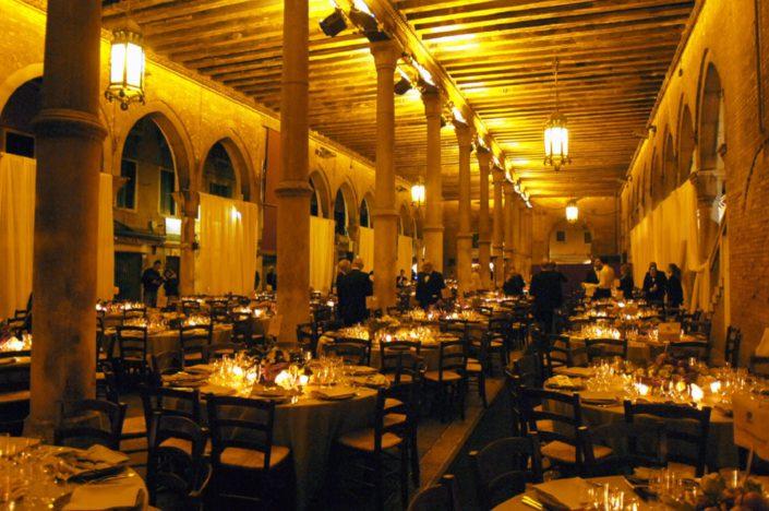 VENICE,GALA DINNER IN THE RIALTO FISH MARKET