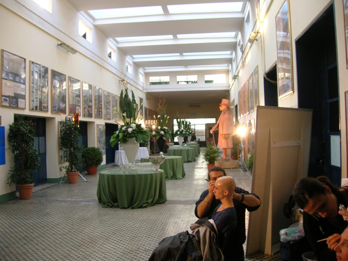 ROMA, CINECITTA' STUDIOS - SET UP INSPIRED TO THE MOVIES