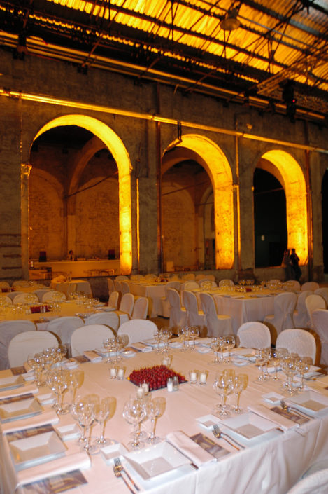 FLORENCE, STAZIONE LEOPOLDA SET UP GALA DINNER