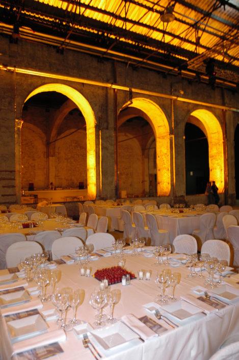 FLORENCE, STAZIONE LEOPOLDA SET UP GALA DINNER