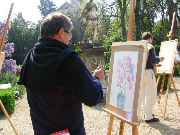 FLORENCE – WATERCOLOUR TEAMBUILDING WITH THE TEACHERS OF THE FINE ART ACADEMY (Renault)