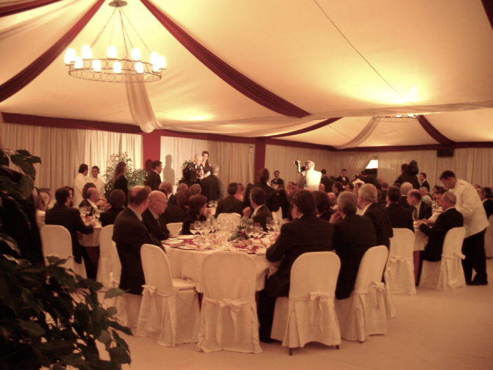 GALA DINNER MARQUEE FOR THE ITALIAN PASTA MAKERS – CAPODIMONTE MUSEUM
